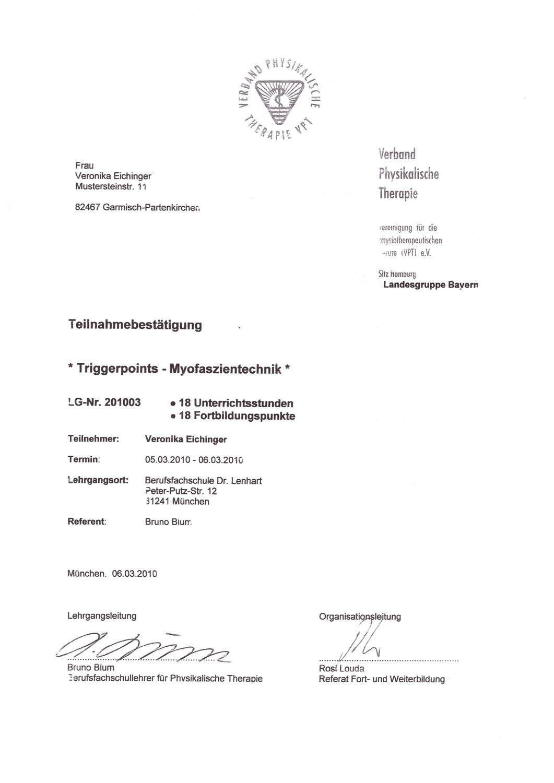 Veronika Pfanzelter - Triggerpoints Myofaszientechnik