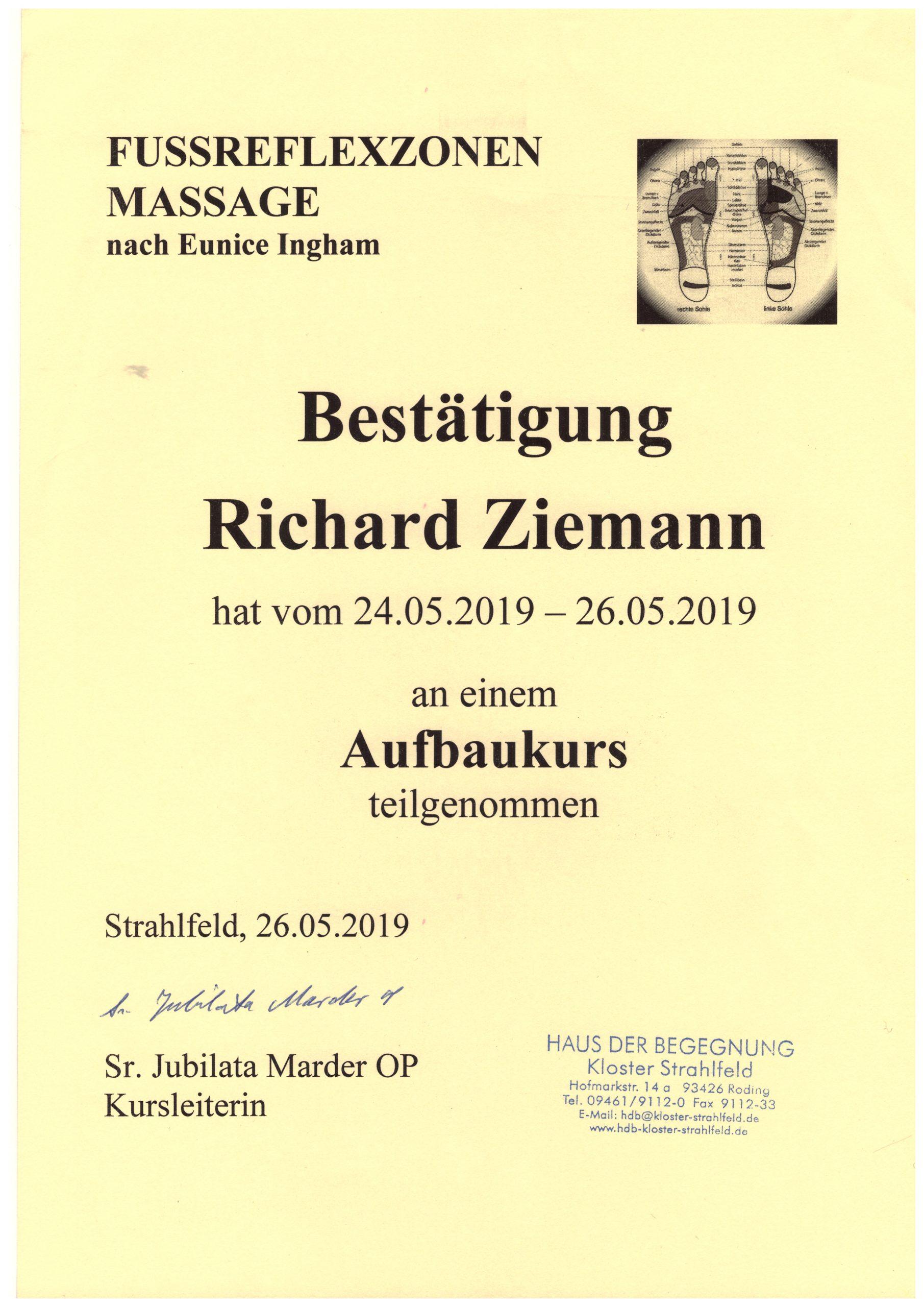 Richard Ziemann - Aufbaukurs Fußreflexzonenmassage